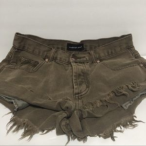 Mustard seed shorts distress brown shorts